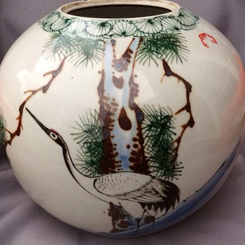 Antique chinese or japanese large jar - Asian