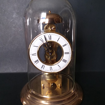 Junghans pendulum clock with Hermle 791-681 skeleton pendulum movement - Clocks