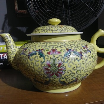 Chinese Yellow Porcelain Teapot - China and Dinnerware