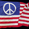 #16 ~ 3) Hippie Peace Sign Flags including 3' x 5' San Francisco original