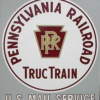 PRR Truc Train Sign - Railroadiana