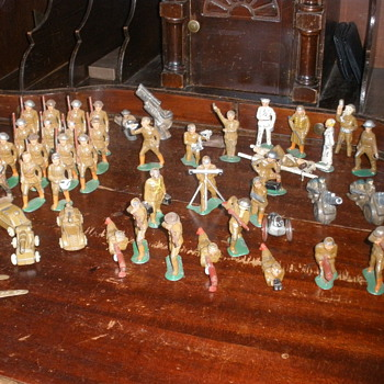 My own private army of lead soldiers! Mostly Barclay.  - Toys