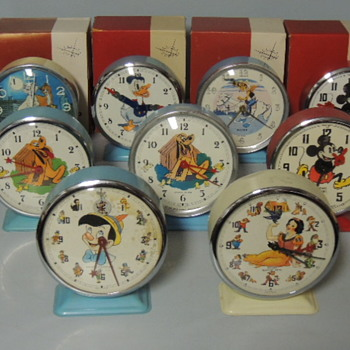 1960s & 70s BAYARD DISNEY CLOCKS - Advertising
