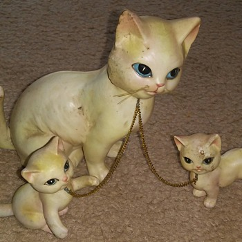 one adult cat and two babies  - Animals