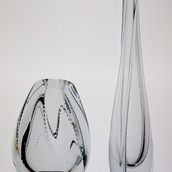 Two small vases - Gunnar Nylund for Strombergshyttan. - Art Glass