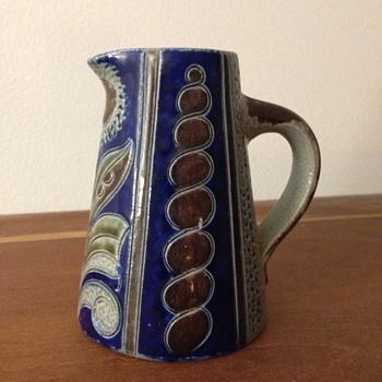 Miniature Stoneware Art Nouveau Ewer - Pottery