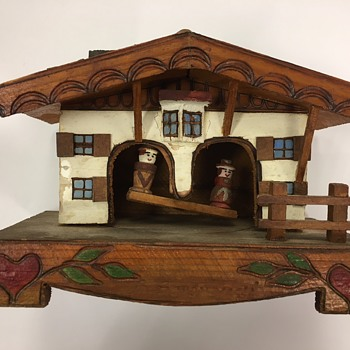 Hand Crafted German Weather House Chalet (No Thermometer) - Folk Art