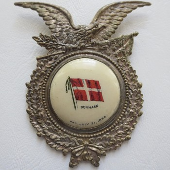 Flag Of Denmark Pocket Watch Fob