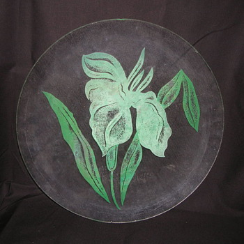 Grandmothers  Glass Platter - Glassware