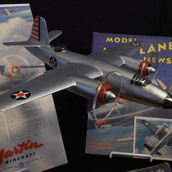 Rescued Strombecker B-26 Recognition Model - Military and Wartime