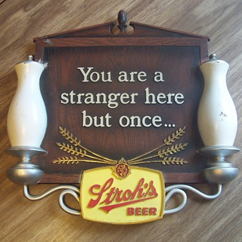 STROH'S sign! - Breweriana