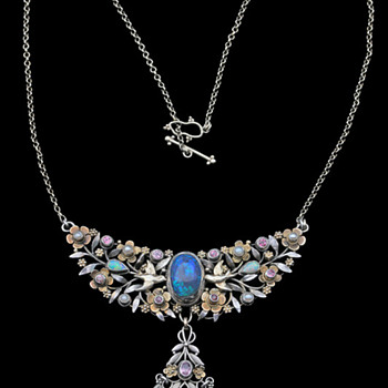 Arts & Crafts -- Arthur and Georgie Gaskin Blue Bird Pendant - Fine Jewelry