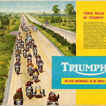 1959 - Triumph Motorcycles Sales Brochure