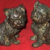 "Vintage Bronze West Highland ""Westie"" Terrier Puppy Sculptures"