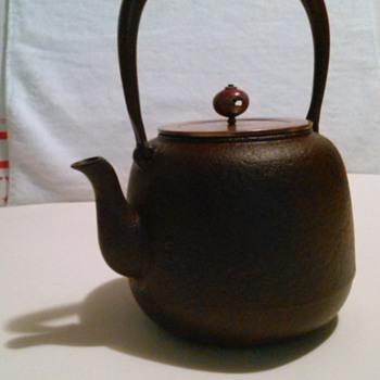 "Antique Japanese  Cast Iron Teapot or ""Tetsubin"". - Asian"