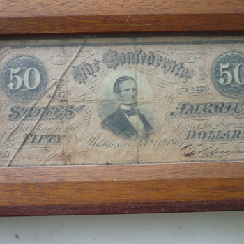 Confederate currency - US Paper Money