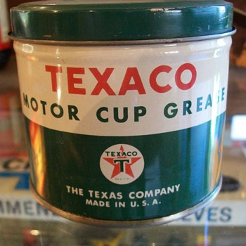 odd Texaco can - Petroliana