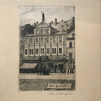 Karl Mergell etching  - Posters and Prints