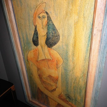 Seated Lady on Giclee - Fine Art