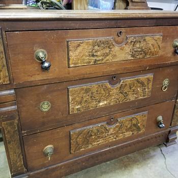 Antique dresser with square nails & Glue - Furniture