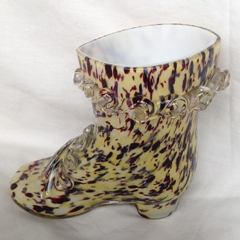 Welz glass boot - Art Glass