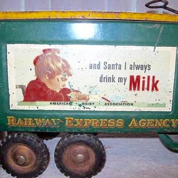 Buddy l truck. Railway express agency  .... Santa truck. 1949