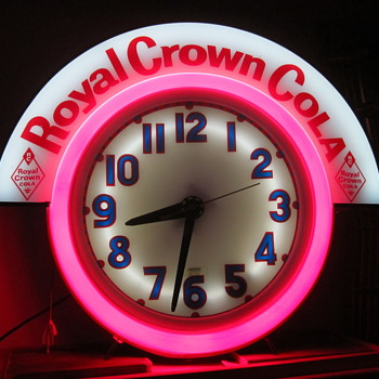 1950's Royal Crown Cola Neon Clock...Cleveland Clock - Clocks