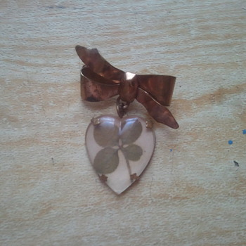 Costume Jewelry Four Leaf Clover Brooch - Costume Jewelry