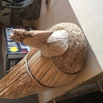 Vintage handmade out of reeds - Folk Art