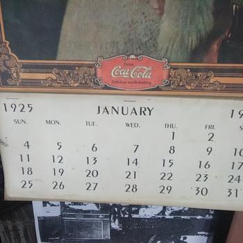 1925  Lady in the Blue Turban Calendar IT'S A FAKE!!!!!!!!! - Coca-Cola