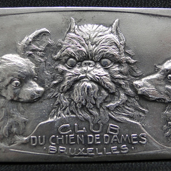 Belgian Dog Club Silvered Bronze Medal - Club De Chien De Dames Bruxelles - Medals Pins and Badges