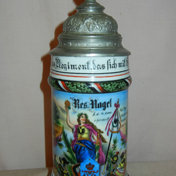 Imperial German Reservist's stein of Fusilier Nagel of the 80th Prussian Fusilier Regiment