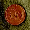 CVG Stamped Wheat Cent