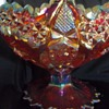 Fenton Bowl Red Amberina? Marked