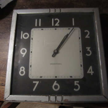 International Wall Clock - Art Deco