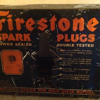 1940's Firestone Spark Plug sign/display?