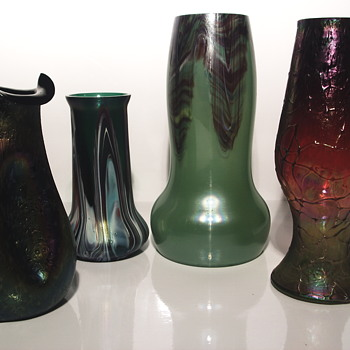 My Grouping of Rindskopf Vase - Art Glass