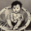Vintage Indian Baby Photo