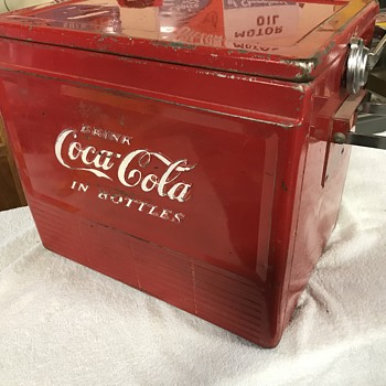 Large Coca Cola metal cooler  - Coca-Cola