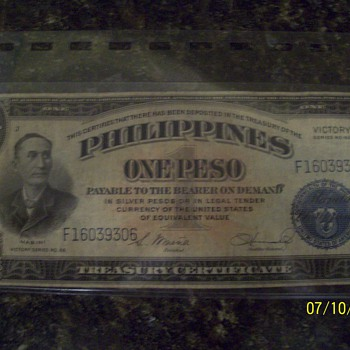1922 papper money - US Paper Money