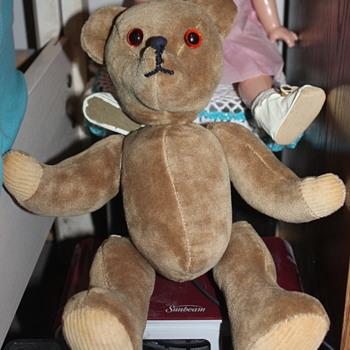 An Unmarked Teddy - Dolls