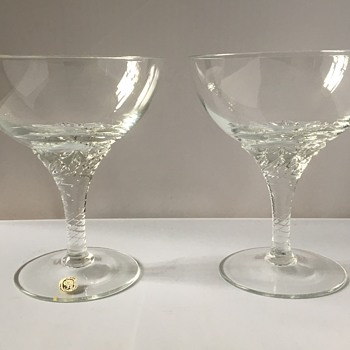 Vintage bohemian champagne saucers  - Glassware