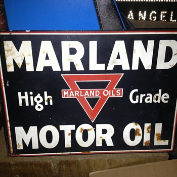Marland Motor Oils flange sign - Advertising