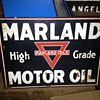 Marland Motor Oils flange sign