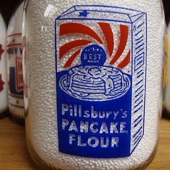 PILLSBURY PANCAKE FLOUR QUART MILK BOTTLES........... - Bottles