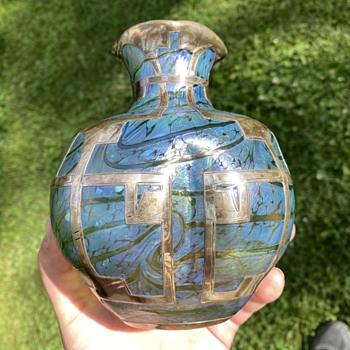 Blue/teal/lavender - Art Glass