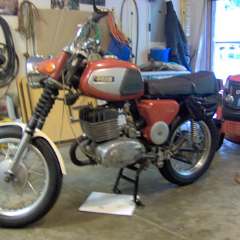 1974 East German OMZ motor bike - Motorcycles