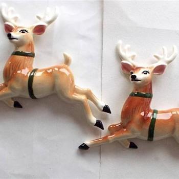 Santa on Sleigh With Three Reindeer