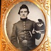 Armed Union soldier tintype