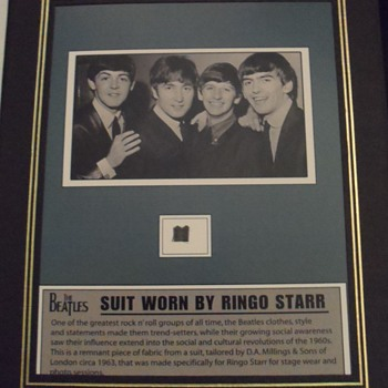 Ringo Starr suit piece-1963 - Music Memorabilia